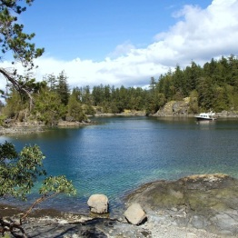 In the Summer the cove is a very popular anchorage due to the sheltered waters