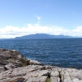 Open ocean with Texada Island in the distance
