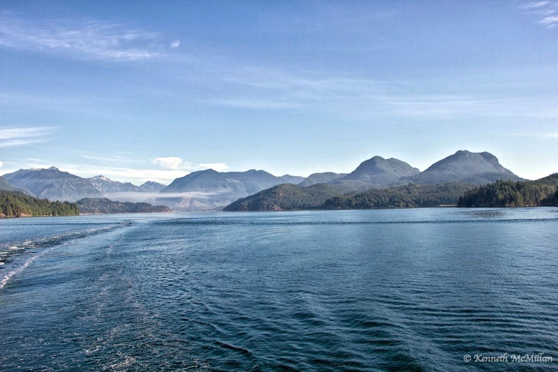 Looking north between the mainland and Gambier Island