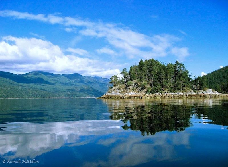 Lamb Islets, Sechelt Inlet, British Columbia