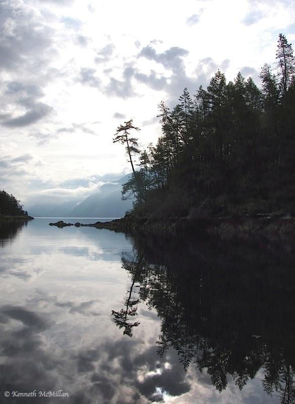 Kunechin Bay, Sechelt Inlet, British Columbia