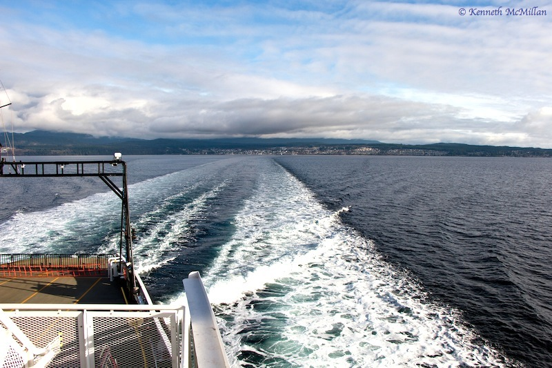 On the ferry between Powell River and Comox, British Columbia, Canada
