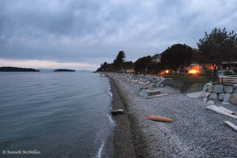 The beach in front of the town of Sechelt, British Columbia, Canada