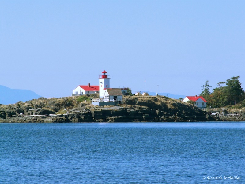 Merry Island Lighthouse just off the Sechelt Peninsula, British Columbia, Canada