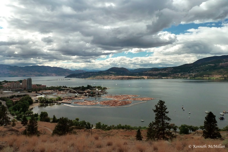 Lake Okanagan, overlooking Kelowna, British Columbia, Canada
