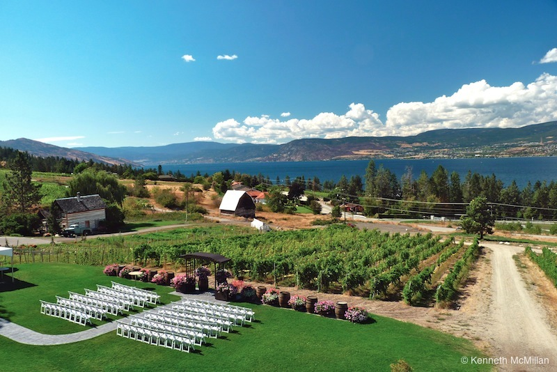 Location: Taken from the Summerhill Winery, Kelowna, British Columbia, Canada
