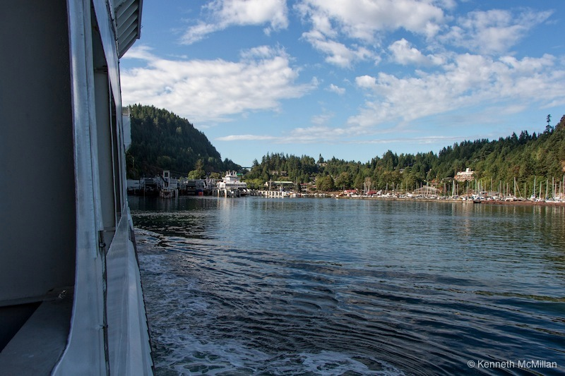 Approaching Horseshoe Bay ferry terminal in West Vancouver.