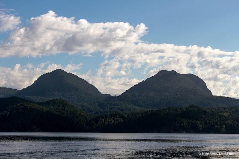 Twin peaks on Gambier Island