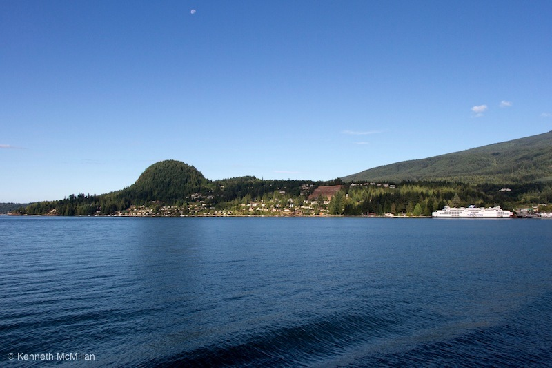 Depature - Langdale, Soames Hill, the town of Gibsons and the moon.