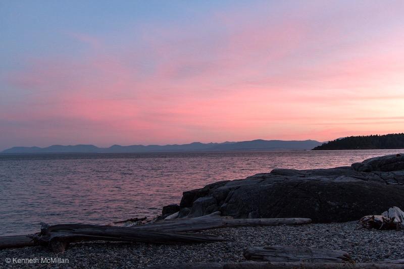 Location: Sechelt, British Columbia Canada. Vancouver Island on the horizon.