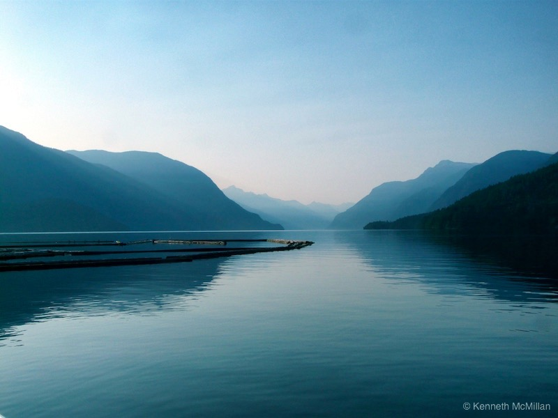 Location: Deserted Bay, British Columbia -  looking up Prince of Wales Reach.