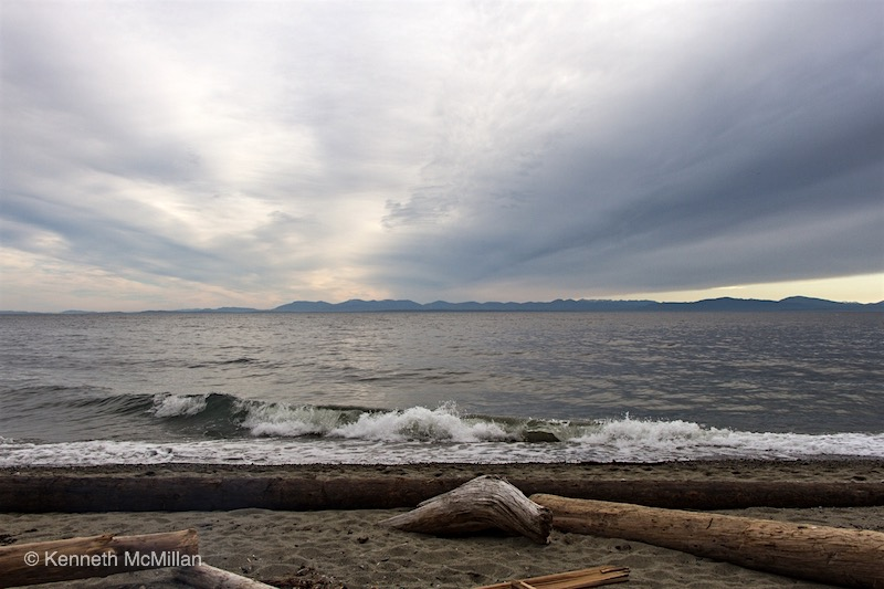 Location: Looking across Georgia Strait to Vancouver Island from Gibsons, British Columbia, Canada
