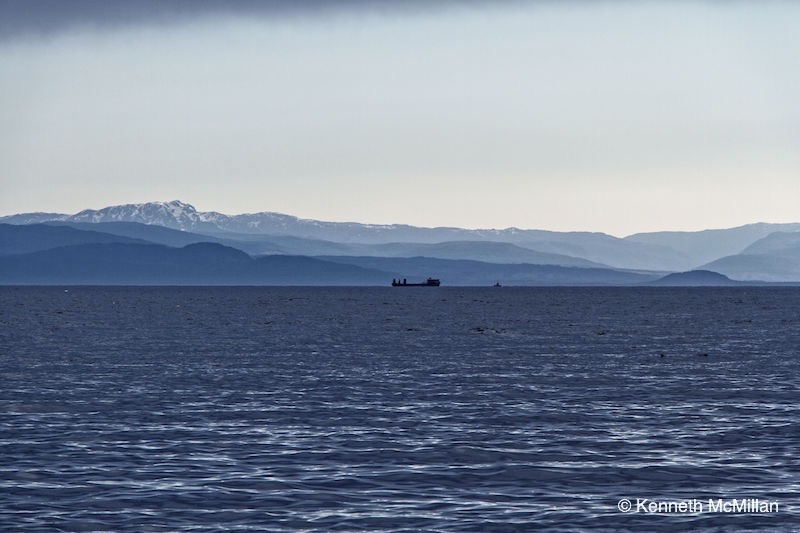Vancouver Island from Gibsons, British Columbia, Canada